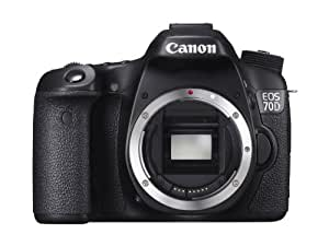 Canon EOS 70D Body Only Camera (20.2 MP, 3.0 inch LCD) - Black