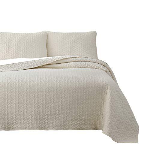 Cozy Beddings Vega Quilt Sets, King/Cal-King, Ivory