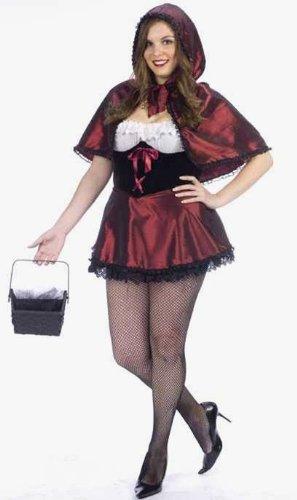Sexy Dark Riding Hood Plus Costume Adult Plus Size