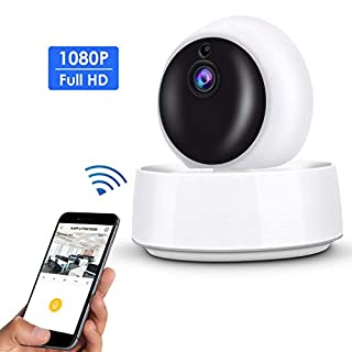 Security Camera Accfly 1080P Wireless Indoor Home Camera WiFi IP Camera with Cloud Storage, Motion Detection, Two-Way Audio, IR Night Vision, Pan/Tilt/Zoom Monitor for Baby Elder Pet Nanny