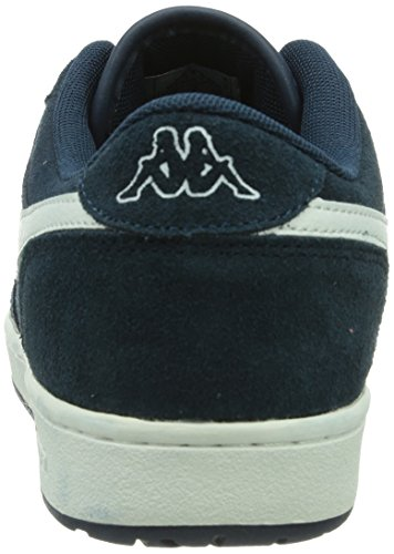 Kappa Trooper Deluxe Footwear Men, Leather, Baskets mode homme Multicolore (6710 NAVY/WHITE)