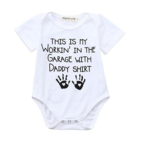 Moginp Jumpsuit,Neugeborenes Kleinkind Säuglingsbaby Mädchen Buchstabe Druck Spielanzug Overall Ausstattungen (90, WS)