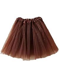 eb0734439934 Damen Tutu Unterkleid Röcke, Petticoat Kleid 50er Rockabilly Festliches  Damenkleid Blickdicht Spitze Ballettrock Unterröcke Brautkleid