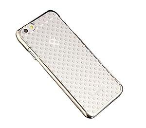 iPhone 6, iPhone 6S Coque rigide transparente avec contour effet chromé Pois doré