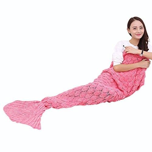 90x90cm für Erwachsene, geburtstagsgeschenk für frauen, Weiche Strick Meerjungfrau Strickmuster Schlafsack di Cloud-Castle (Valentine Party-spiele Für Erwachsene)