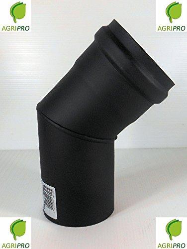 Kurve 45° Rohr Auspuff Rauch Durchmesser 80Für Heizofen Pellet Ofenrohr (Auspuff Pelletofen)