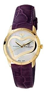 Christina Design London Damen-Armbanduhr Analog Gelbgold 0 147GWPURPLE