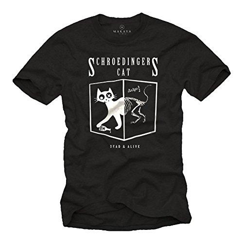 Maglietta Gatto di Schrodinger - T-shirt Big Bang Theory uomo - nera L