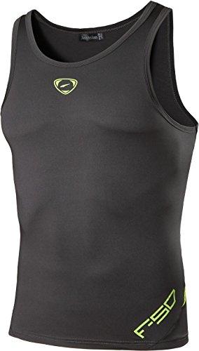 Jeansian Hombres Camiseta De Tirantes Deportivas Wicking Quick Dry Vest tee Tank Top Verano Correr Training LSL3306 Darkgray M