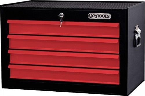 KS TOOLS 836 0014 - BASICO TOP BOX  ROJO  4 CAJONES DE BLOQUEO 1 ETAPA