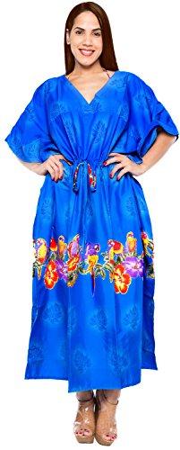 � long caftan robe kimono couvrir femmes beachwear robe de maillot de bain maillot de bain maillot de bain Bleu