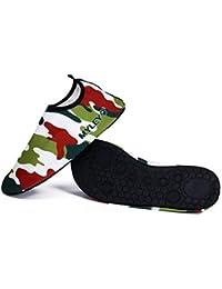 ZHRUI 1 par de Deportes acuáticos Correr Calcetines Zapatos de Vela Playa Yoga Piscina ejército luz