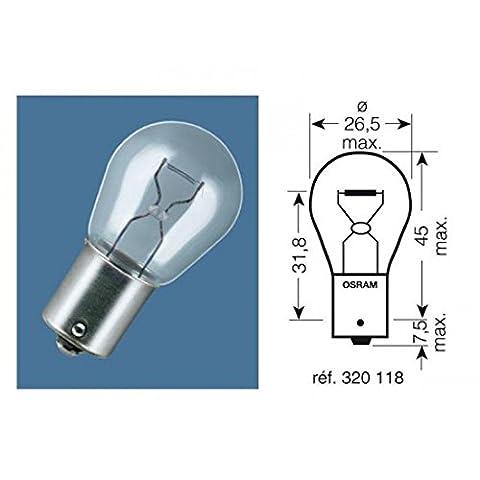 Boite 10 ampoules 12v-21w / stop culot ba15s - Osram 320118