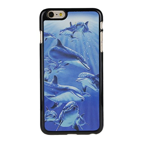 SainCat Coque Housse Apple iPhone 6,Design 3D Transparent Coque Silicone Etui Housse, iPhone 6S Silicone Case Soft Gel Cover Anti-Scratch Transparent Case TPU Cover,Fonction Support Protection Complèt dauphin