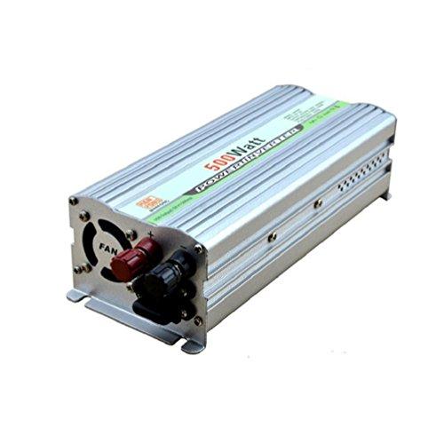 Power Konverter Wechselrichter Power Inverter Wechselrichter Peak DC 12V auf AC 220V Netzteil (500W Silber) (Jump Starter-pumpe)