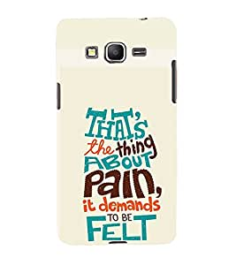TOUCHNER (TN) About Pain Back Case Cover for Samsung Galaxy Grand Prime G530h