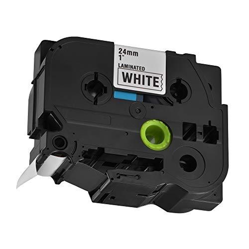 Beschriftungsband KZe251 24mm x 8m Standard Laminiert Schwarz auf Weiß Kassetten-Beschriftungsgerät Kompatibel for Brother P-Touch TZ251 TZe251 HS1162. elektronisches Zubehör