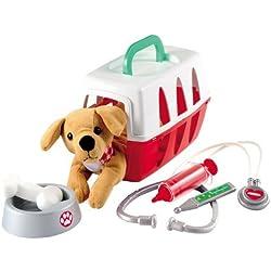 Tierarzt Spielset im Koffer inkl. viel Zubehör Stethoskop,Spritze Plüschhund