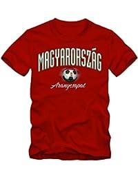 Shirtastic Herren Fußball T-Shirt Ungarn Magyarország Football Em Trikot Frankreich