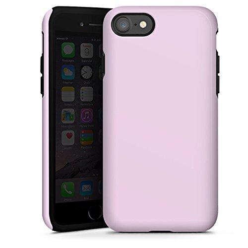 Apple iPhone X Silikon Hülle Case Schutzhülle Flieder helleres Violett Lila Tough Case glänzend