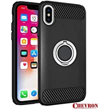 Chevron Thermoplastic Polyurethane iPhone X Back Cover with Viewing Stand