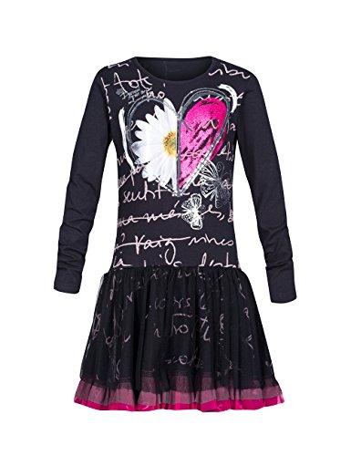 Desigual Abuya - Robe - Imprimé - Fille - Noir (Negro) - FR: 6 ans (Taille fabricant: 5/6)