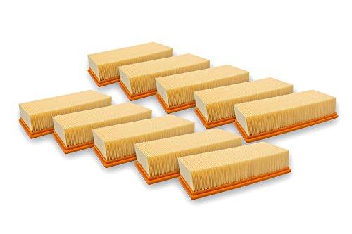 vhbw 10x Flachfaltenfilter Filter wie 6.904-283.0 Kärcher Nass-/Trockensauger NT 65/2 Ap, NT 65/2 Eco, NT 65/2 Eco Tc, NT 72/2 Eco Tc NT 75/2 Ap Me Tc