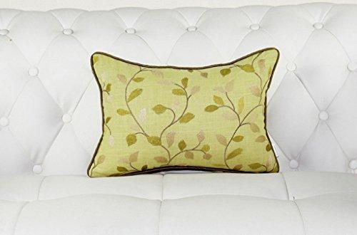Pastoral Baumwolle und Leinen gestickte Nachttische Kissen Sofa Kissen Kissen SPFOZ (Farbe : #1, größe : 60 * 60cm) -