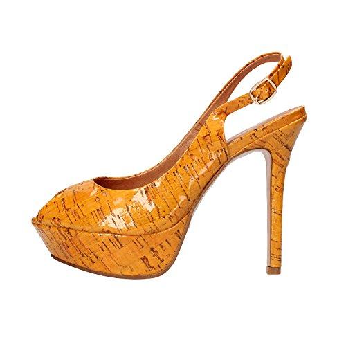 BIBI LOU sandali donna 37 EU giallo vernice AF374
