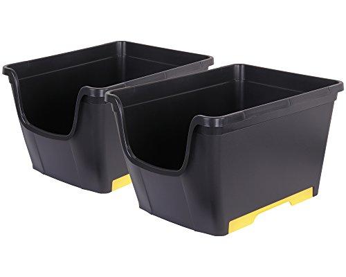 Ondis24 2X Aufbewahrungsbox Lagerbox Allzweckbox Sichtbox Multi Wow stapelbar & nestbar