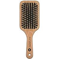 Fripac-Medis, Natural Line, Spazzola piatta per capelli in legno d'acero, 9 file di setole