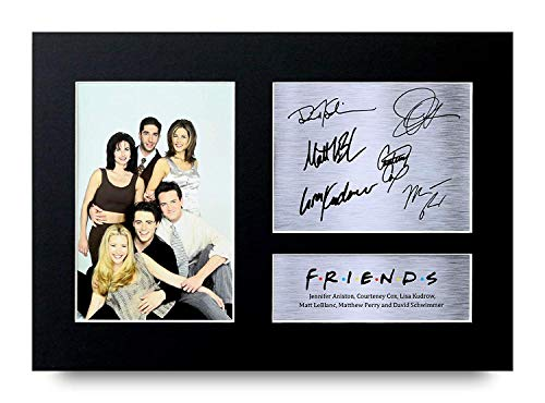 Friends Regalos A4 Dedicatoria Firmada Impresa Joey