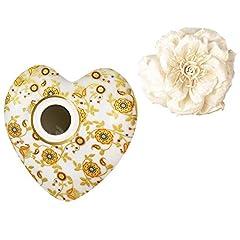 Idea Regalo - Diffusore grande cuore e fiore BACI MILANO TINA in porcellana colorata ILHEA2.LOV09
