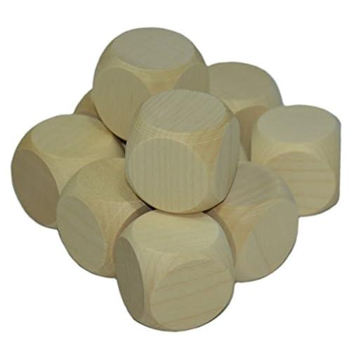 10-x-Blankowrfel-Holzwrfel-blanko-30mm-Ahorn-natur-Gebetswrfel-unbedruckt-mit-3cm-Kantenlnge