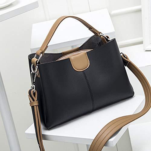 LFGCL Taschen womenHandbag Farbe Temperament Mutter Tasche lässig Persönlichkeit weibliche Schulter Umhängetasche, schwarz