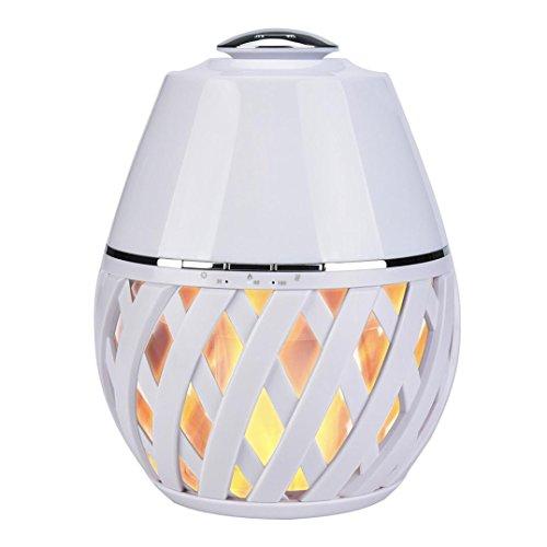 Preisvergleich Produktbild myqyiyi Ultraschall Luftbefeuchter Luft des ätherisches Öl Diffusor Aroma mit Flamme LED Licht weiß
