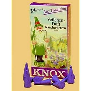 Räucherkerzen - Veilchenduft - Original Erzgebirge Räuchermann - Knox