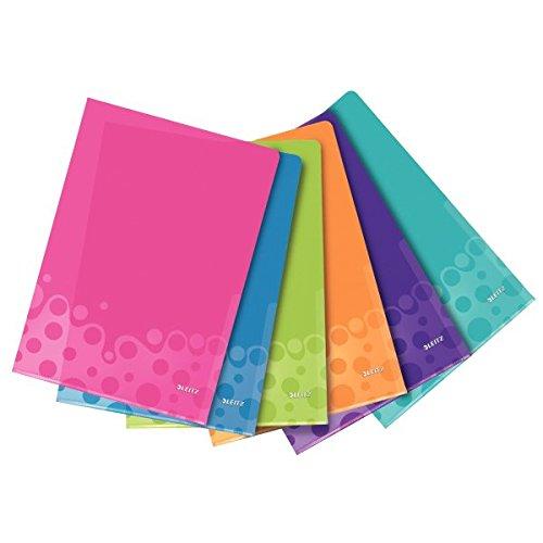 Leitz WOW Mappe, A4, verschiedene Farben, 6 Stück