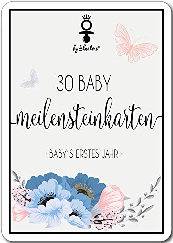 Meilensteinkarten Baby - Die schönsten Momente des 1 Lebensjahres in 30 wunderschönen Meilenstein Karten frisch gebackene Mütter
