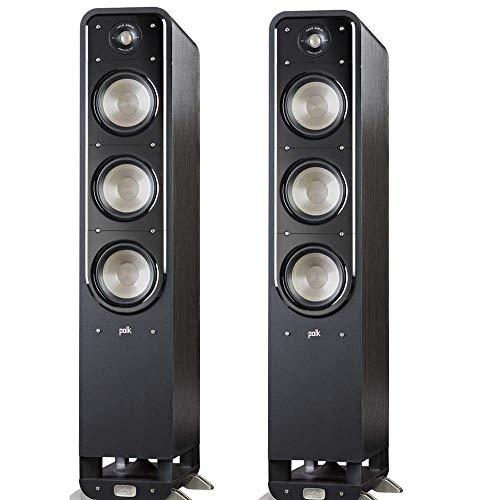 Polk Audio Signature American HiFi Tower Speaker Pair (Black) - Set of 2
