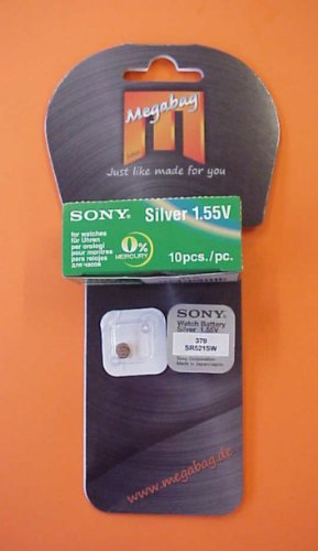 original Sony Silberoxyd Knopfzelle Batterie für Uhren, usw. 379 (SR521SW) Watch Battery silver 1.55 V -VERSANDKOSTENFREIE LIEFERUNG !-
