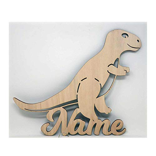 (Dino Motiv Dinolampe Schlummerlicht I ein Led Geschenk Zimmer Lampe mit Name personalisiert für Kinder und Erwachsene I Optional mit Farbe)