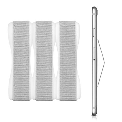 kwmobile Smartphone Fingerhalter 3er Set - Handy Halter Griff Halterung Einhandbedienung - 3X Handyhalter in Weiß