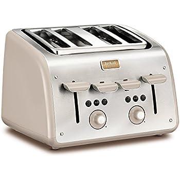 Tefal Avanti Deluxe All Chrome Toaster 4 Slice Amazon Co
