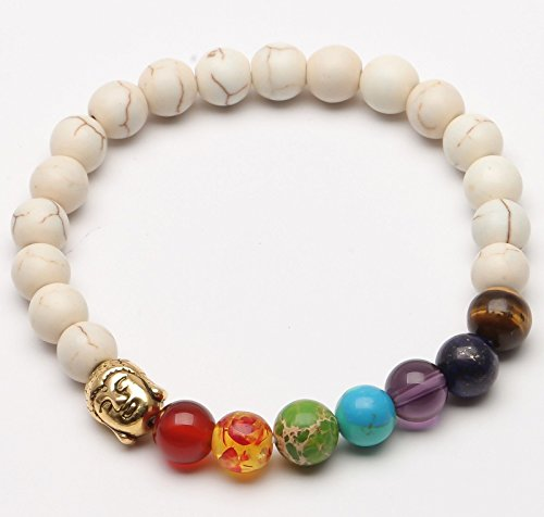 ILOVEDIY Lava Armband, Unisex Zen-Buddhismus Armreif Energietherapie Yoga-Armband 7 Chakra Healing Wurzelchakra Buddha-Armband