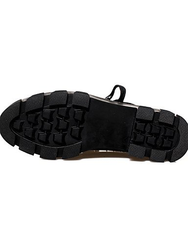 ZQ hug Scarpe Donna - Stringate - Casual - Creepers / Punta arrotondata / Chiusa - Plateau - Finta pelle - Nero , black-us8 / eu39 / uk6 / cn39 , black-us8 / eu39 / uk6 / cn39 black-us5.5 / eu36 / uk3.5 / cn35