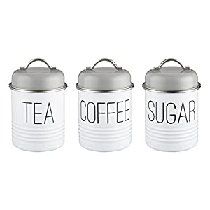 Typhoon Vintage Mayfair Tea, Coffee & Sugar Canister Trio, 950ml