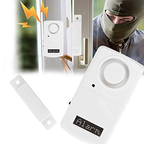 CAIDUD Kompakt Magnetsensor Magnetsensor Alarm DIY Überwachung Tor Wireless Hochleistung (Einfahrt Wireless Alarm)