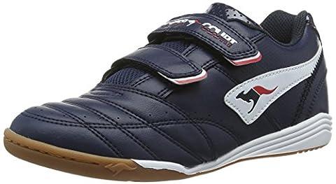 KangaROOS Power Court, Unisex-Kinder Sneakers, Blau (dk navy/white 460), 32 EU