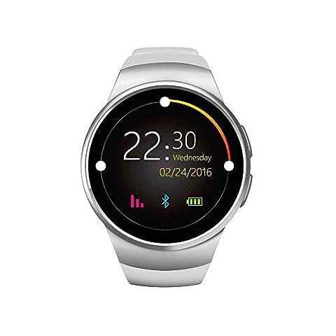 LED Quarz Alarm Armbanduhr, aus Kamera, Monitor, Herzfrequenz Monitor und Schrittzähler für IOS und Android Gerät, Bluetooth Smart Watch Phone Call Armbanduhr kompatibel mit Android und iOS System Wasserdicht Smartwatch